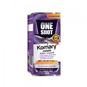 ONE SHOT Preparat na komary i meszki, koncentrat 100 ml do oprysku